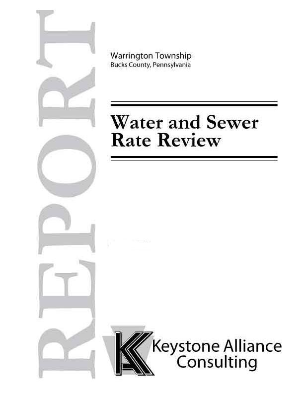 Warrington Township Water and Sewer Rate Review